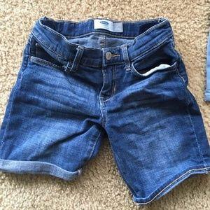 Girl's size 8 denim Old Navy shorts